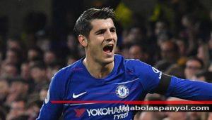 Alvaro Morata mencetak Gol Perdanaya