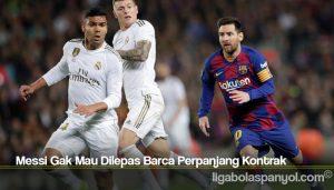 Messi Gak Mau Dilepas Barca Perpanjang Kontrak