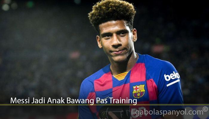 Messi Jadi Anak Bawang Pas Training