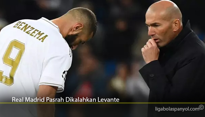 Real Madrid Pasrah Dikalahkan Levante